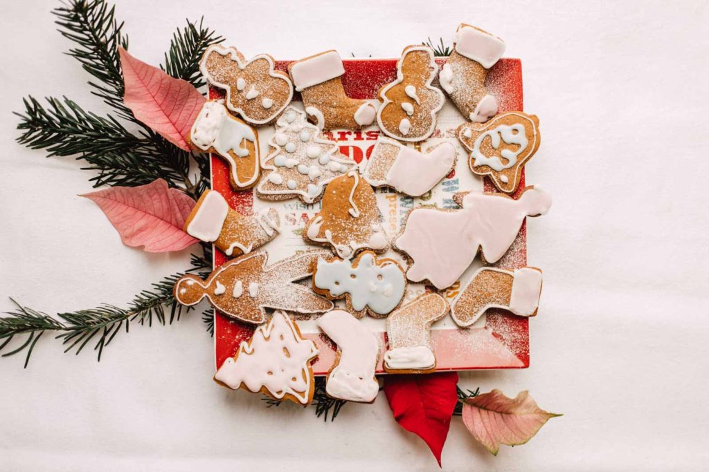 Swedish gingerbread decorated